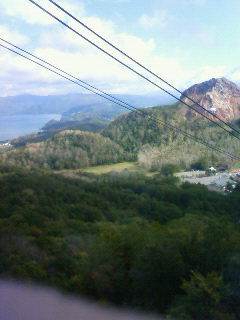 有珠山ロープウェイからの景色