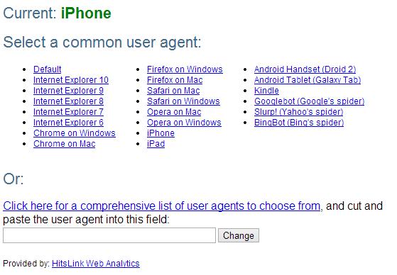 Chrome-extension-UserAgentSwitcher3